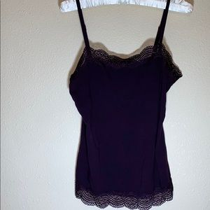 Ann Taylor Eggplant Colored Camisole Size Small